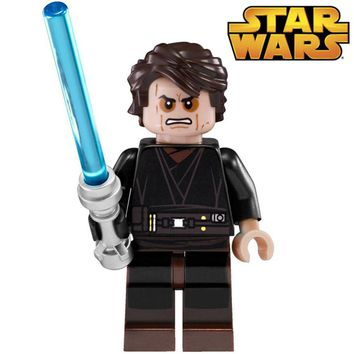 SingleSale STAR WARS Anakin Skywalker Darth Vader with Lightsaber ROGUE ONE minifig Assemble Building Blocks Kids Toys GiftS