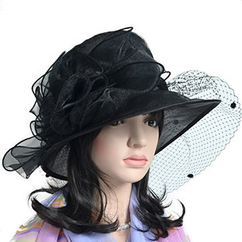 Womens Church Dress Bridal Shower Derby Wedding Floral Tea Party Hat S055