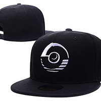 BARONL Professor Program Pokeball Pokemon White Adjustable Snapback Embroidery Caps Hats