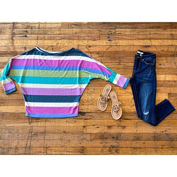 Denise Striped Slouch Top