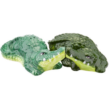Alligators Snuggling Salt & Pepper Shakers