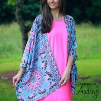 Printed Kimono by Entro - Boutique At Audrey's