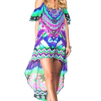 Shahida Parides Designer Resort Kaftan - Luxury Beach Tunic