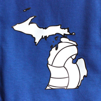Michigan Volleyball T-shirt- Vball Apparel, Sports Shirt