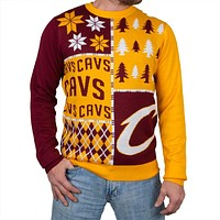 Cleveland Cavaliers - Busy Block Ugly Christmas Sweater