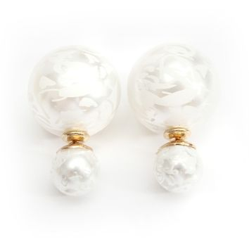 Double Faced Big Pearl Earrings