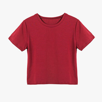 Basic Red Cropped Tee