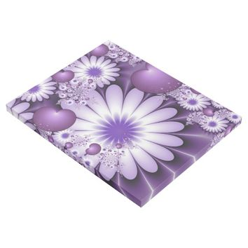 Falling in Love Abstract Flowers & Hearts Fractal Gallery Wrap