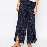 Abercrombie & Fitch Chain Tied Waist Wide Leg Trousers