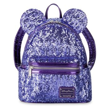 Disney Minnie Potion Purple Sequined Backpack by Loungefly New with Tags
