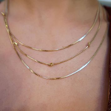 Keep It Cool Necklace: Gold