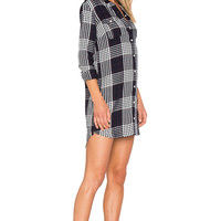Obey Chelsea Shirtdress in Navy Multi | REVOLVE