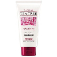 Tea Tree Natural Whitening Facial Foam Cleanser Face Wash 140ml 4.8oz