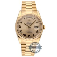 Rolex Day-Date Auto 36mm Yellow Gold Mens President Bracelet Watch 118238