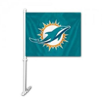 DCCKG8Q NFL Miami Dolphins Car Flag