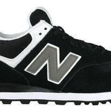 DCCK1IN new balance mens sneakers classics 574 black white m574skw