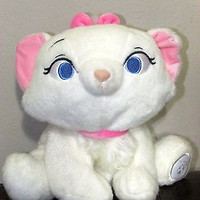 disney white cat marie aristocats  plush 9''stuffed animal boys and girls 2 age