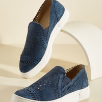 Seychelles So Nice Suede Slip-On Sneaker | Mod Retro Vintage Flats | ModCloth.com