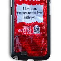 Samsung Galaxy Note 2 Case - Hard (PC) Cover with Border Sauce Fire Plastic Case Design