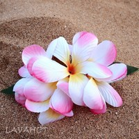 Plumeria Pink Hawaiian Flower Hair Clip