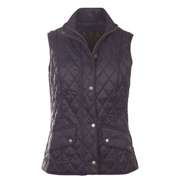 Flyweight Cavalry Quilted Gilet in Navy by Barbour
