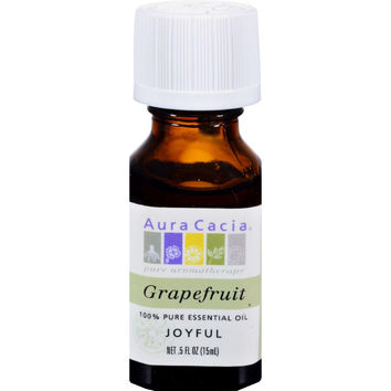 Aura Cacia Pure Essential Oil Grapefruit - 0.5 Fl Oz