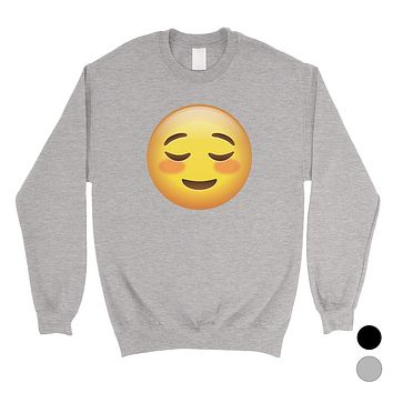 Emoji-Blush Unisex Crewneck Sweatshirt Kind Sentimental Friend Gift