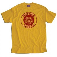 Saved By the Bell Bayside Tigers Adult Gold T-shirt - Saved by the Bell - | TV Store Online