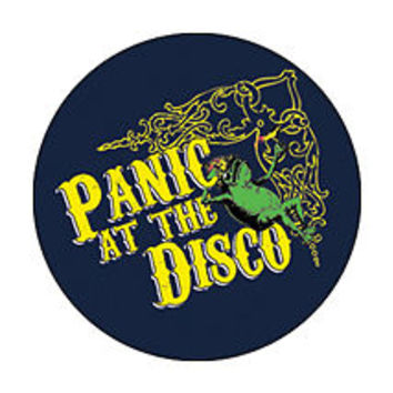PANIC AT THE DISCO 1-inch BADGE Button Pin Frog Logo Design NEW OFFICIAL MERCH