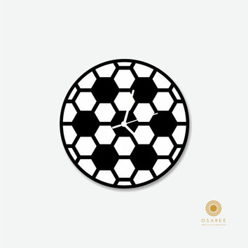 Circular hexagonal grid Modern Wall Clock, Two Layered Wall Décor Clock