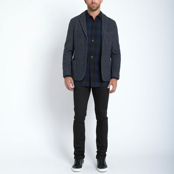 Beautiful Fül Standard Plaid Shirt in Blue/Black