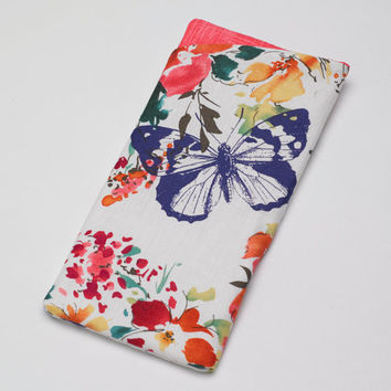 Sunglasses Case, Eyeglass Case, Glasses Case in Watercolor Butterfly Fabric
