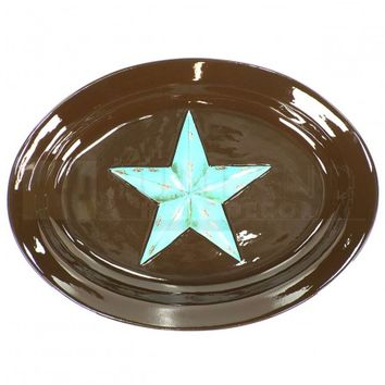12 x 16 Serving Plate - Star Turquoise