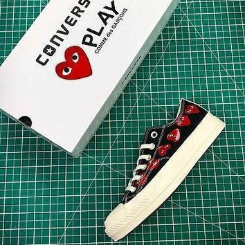 CDG PLAY x Converse Chuck Taylor Material OX Addict Vibram Low Black Sneakers