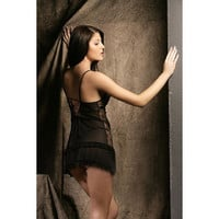 Upscale Black and White Spring Style Lingerie Babydoll