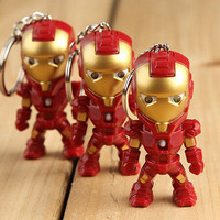 Iron Man LED Flashlight Keyrings