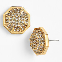 Louise et Cie 'Pavé Octagon' Stud Earrings