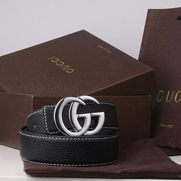 """""""Gucci"""" Unisex Fashion Personality Classic Multicolor Double GG Letter Needle Buckle Belt"""