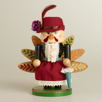 Mrs. Turkey Wooden Nutcracker - World Market
