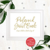 Polaroid Guest Book Printable Sign-Photo Guest Book Chic Lettered Sign-Polaroid Sign Our Guest Book Sign-Polaroid Wedding Guest Book Sign-