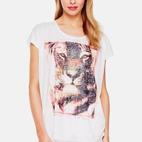Women's Two by Vince Camuto Tiger Graphic Camo Burnout Tee,