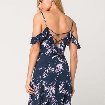 FULL TILT Floral Knit Cold Shoulder Dress | Short Dresses