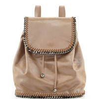 Falabella Drawstring Backpack, Beige