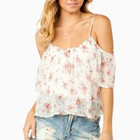 FLIRTY FLORALS OFF SHOULDER BLOUSE