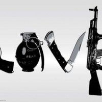 Steez (Love, Weapons) Art Poster Print - 24x36 Poster Print by Steez , 36x24 Fine Art Poster Print by Steez , 36x24