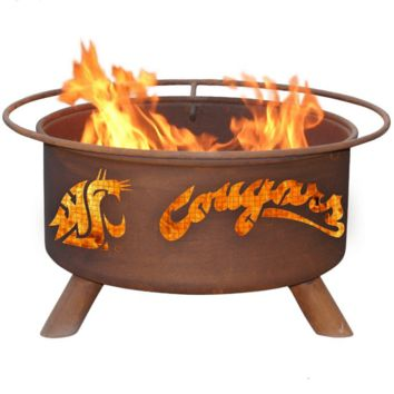 Washington State Steel Fire Pit by Patina Products