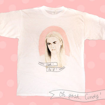 Cher Horowitz t-shirt watercolor illustration Clueless Ugh as if