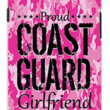 Premium Pink Camo Coast Guard Girlfriend Military Camouflage Direct UV Printed Unique Quality Hard Snap On Case for Samsung Galaxy S4 I9500 - White Case