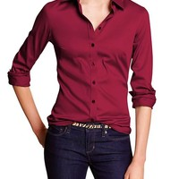 Factory Non Iron Fitted Sateen Shirt