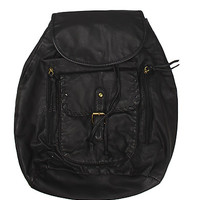 Girls Soft Wash Faux Leather Backpack